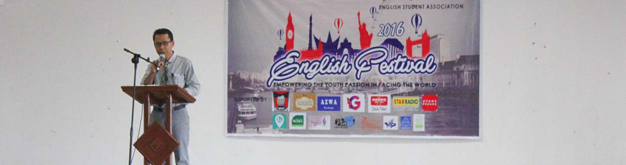 Dekan FIB Universitas Bung Hatta Buka English Festival 2016